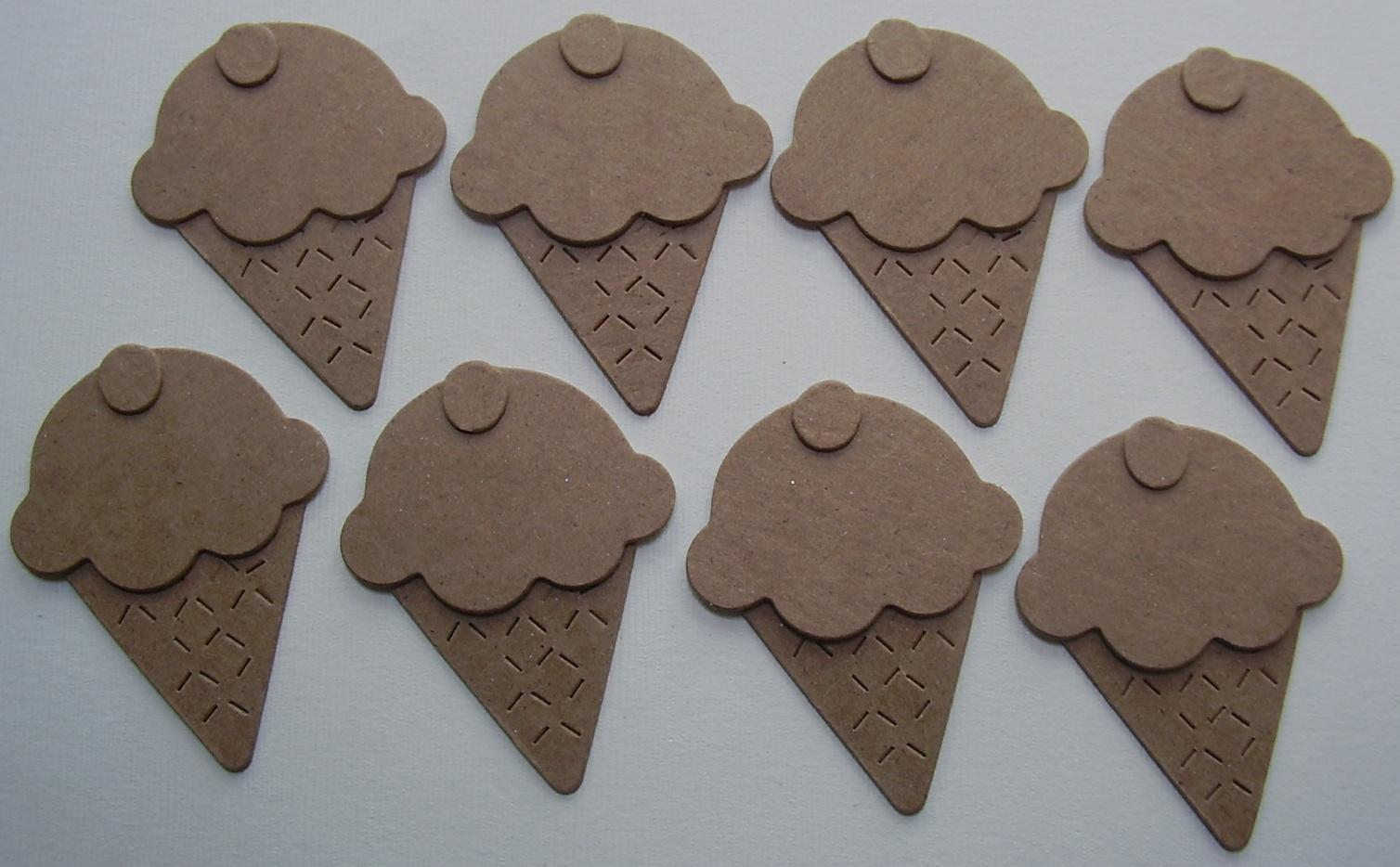 Chipboard Shapes Ideas ~ Icecream cones bare unfinished chipboard die cuts ebay