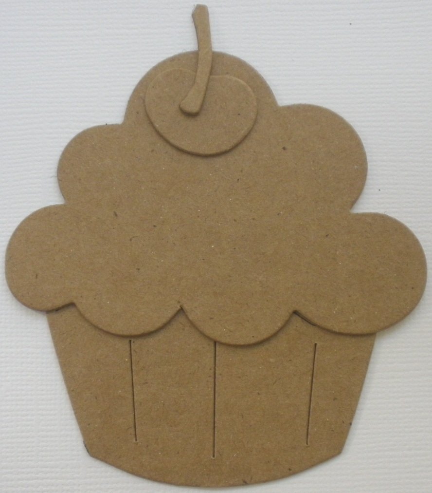 Chipboard Shapes Ideas ~ Large cupcake unfinished chipboard die cuts quot