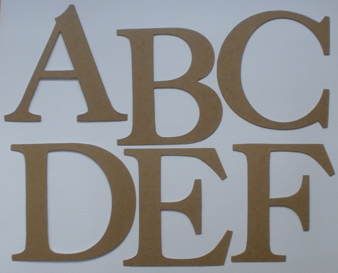 4quot elegant font large alphabet chipboard letters die With large letter die cuts