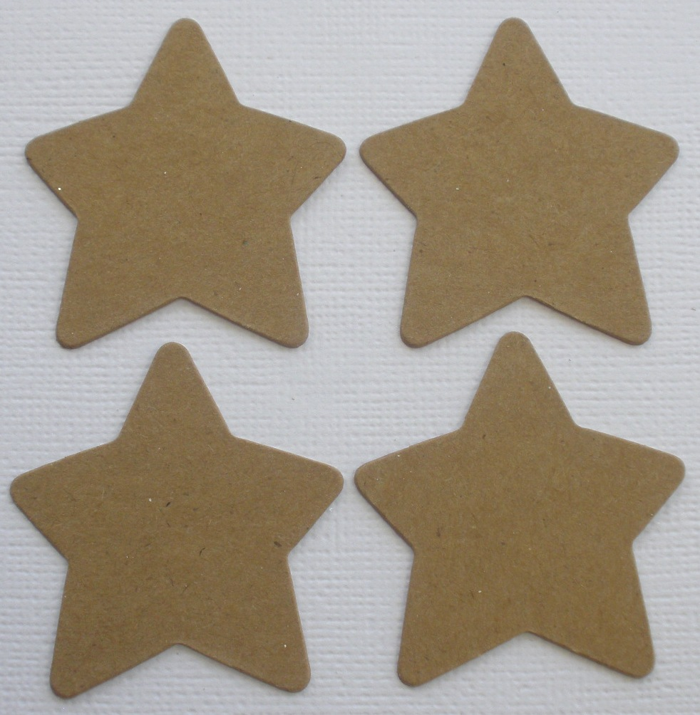 Chipboard Shapes Ideas ~ Chunky star raw bare chipboard die cuts ebay
