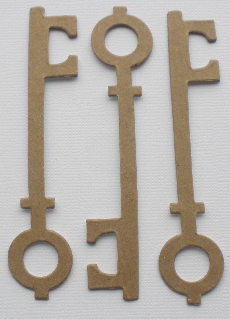 Chipboard Shapes Ideas ~ Vintage key kit bare skeleton keys chipboard die